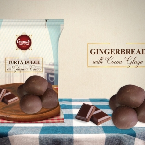 GINGERBREAD WITH COCOA GLAZE