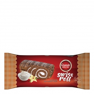 Swiss Roll filled with Vanilla Cream