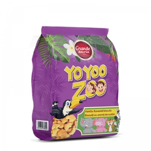 Yo Yoo Zoo Vanilla Animal Shaped Biscuits