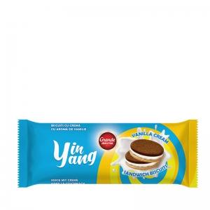 Yin Yang Sandwich Biscuits with Vanilla Cream