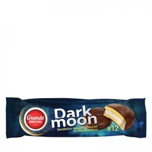 Dark Moon Marshmallow Chocolate Glazed Biscuits